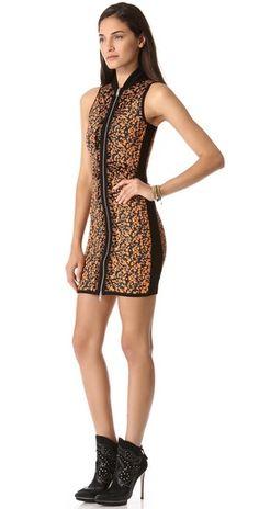 McQ - Alexander McQueen Camouflage Zip Up Dress