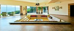 another wonderful example of a sunken seating area. courtesy--Inside Outside magazine