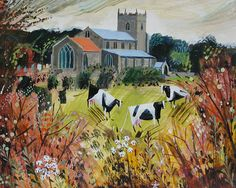 Over the Hedge to Wiveton Church by Mary Sumner