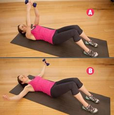 Looking for solid arm workouts with weights that don't require much equipment? Grab a pair of dumbbells and these 14 arm exercises with weights will do it. Arm Exercises With Weights, Arm Toning Exercises, Stretches, Short Workouts, Fun Workouts, At Home Workouts, Toned Arms, Dumbbell Workout, Shoulder Workout