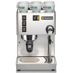 The Rancilio Silvia V3 is a semi-professional single boiler home espresso machine. This newly redesigned Silvia now comes with an ergonomic commercial portafilter and a commercial articulating steam wand with a new 1 hole steam tip. The machine also features a redesigned, contoured steam knob that adds even more style to an already sleek machine.