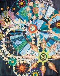 Rex Ray's art makes me happy! It's like a kaleidoscope!