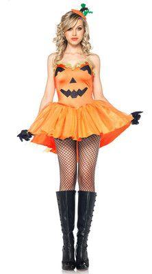 womens sexy halloween pumpkin princess fancy dress adult costume set s 8932 ebay - Uhura Halloween Costume