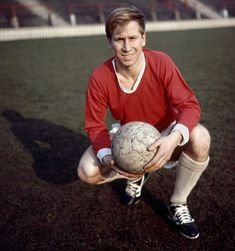 Sir Bobby Charlton, c. 1961.  Charlton is a legend, both at Man U. and in football in general.  In 1966, he won the Ballon d'Or, which goes to the greatest player of the year.  He's also a survivor, and one of the very few who did survive and continued their career in a significant way.