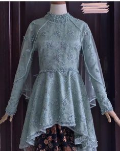 Model Kebaya Muslim, Dress Brokat Muslim, Model Kebaya Modern, Kebaya Modern Dress, Kebaya Brokat, Kebaya Dress, Dress Pesta, Dress Brukat, Batik Dress