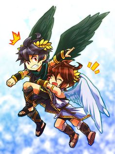 Pit And Dark Chibi Find This Pin More On Kid Icarus By