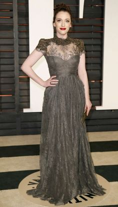 Kat Dennings – 2015 Vanity Fair Oscar Party in Hollywood