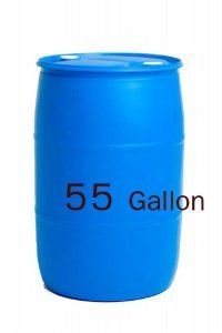 55 Gallon Water Storage Barrel . $78.99. Molded top ring to facilitate handling using hoist, parrot grabber, side grabber, hand truck and fork-lift.. FDA approved, BPA free high molecular weight polyethylene, 2.2 mm minimum wall thickness.. Shipping based off of the amount spent NOT the weight of the items being shipped. This item will ship for $10 via Fed Ex Ground with tracking.. Blue in color to restrict light, which helps to control the growth of bacteria and algae. Empty w...