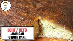 """[RECIPE BELOW] Jamaican Ginger Cake. This started with a text from my Dad that just said """"I want a keto ginger cake, one that is stodgy and sticky"""" . Coconut Flour, Almond Flour, Jamaican Ginger Cake, Brown Sugar Replacement, Butter Ingredients, Golden Syrup, Food To Go, Baking Tins, Salted Butter"""
