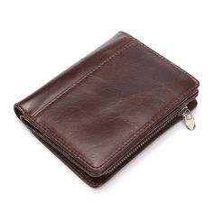 9.47$ (Buy here: http://alipromo.com/redirect/product/olggsvsyvirrjo72hvdqvl2ak2td7iz7/32759770714/en ) Men Casual Genuine Cowhide Leather Wallet Vintage Design Small Coin Purse Male Short Slim Zipper Bifold Wallet Card Photo Holder for just 9.47$