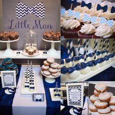 |Our Little Man Baby Shower | www.cwdistinctivedesigns.com | #desserttables #firstbirthday #littleman