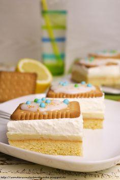 Wonder Wunderbare Kuche Zitronen Butterkeks Kuchen Vom Blech