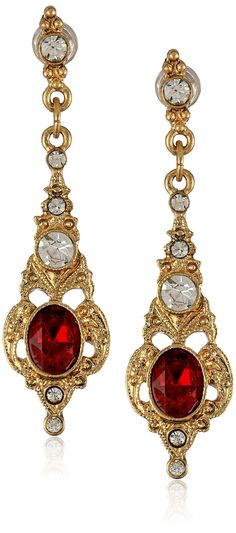Downton Abbey Boxed Gold-Tone Ruby Crystal Drop Earrings | "|236|533|?|en|2|40091411e1152c9c87a56943fe41c331|False|UNLIKELY|0.3651719391345978