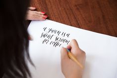modern calligraphy. a yawn is a silent scream for coffee