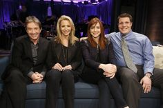 Friends Chandler and Phoebe reunite on Hollywood Game Night. Click on to watch the videos.