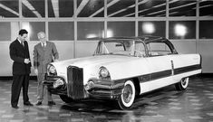 One of the last Packard show cars was the Request of 1955, which featured a 1930s-style Packard grille to meed buyers' demand for the return of the ox collar design feature.