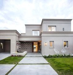Bungalow Exterior, Bungalow House Design, Modern House Design, Villa Design, Facade Design, Exterior Design, Modern Exterior, Dream House Plans, Modern House Plans