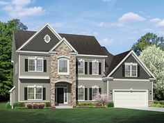 Colonial Home Plan with 2382 Square Feet and 3 Bedrooms from Dream Home Source | House Plan Code DHSW077539