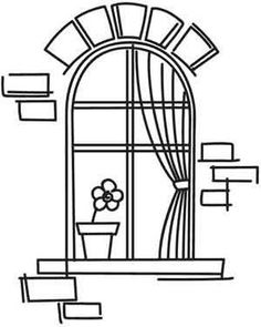 Paper Embroidery Patterns Window on the World Doodle Drawings, Doodle Art, Hand Embroidery Designs, Embroidery Patterns, Urban Threads, Quilling Patterns, Digi Stamps, Transfer Paper, Colouring Pages