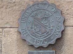 University of Akron Zips - University Seal on Buchtel Hall