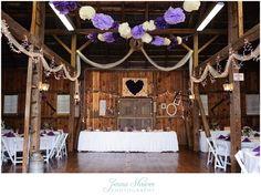 McDaniel College wedding Carroll County Maryland Farm Museum Reception. #JennaShriverPhotography Purple wedding and rustic barn reception