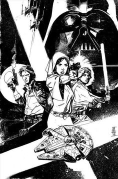 Star Wars #1, variant cover by Alex Maleev