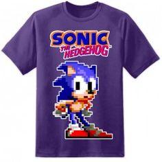 "Sonic Classic ""Waiting"" T Shirt - Purple"