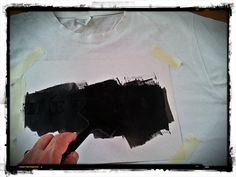 well,,, I guess about this stage will be right time for the beer :) Smearing black paint all over,,, make sure you go time and again until you covered well the cut-out parts.  (It's okay to whistle at this stage, I for one was listening to New Wave music from the 90's while at it :-)