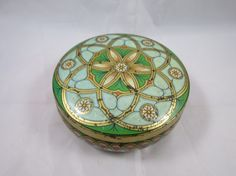 Meister Tin Candy Box Green Art Green Ar by BonniesVintageAttic, $24.95