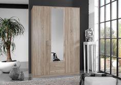 Armoire 3 portes + 2 tiroirs coloris chêne naturel