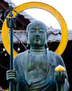 sengokudaimyo: Statue of Buddha at a shrine in Kyoto, Japan.
