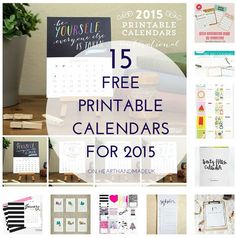 Free Printable 2015 Calendars I've been having lots of fun this week, customising my planner and finding lots of fabulous printables! When it came to 2015 calendars to add in, I was a little overwhelmed if I'm honest; there were...