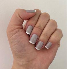 Nails, Beauty, French Nails, Gray, Finger Nails, Ongles, Beauty Illustration, Nail, Nail Manicure
