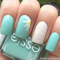 Teal, white, yellow, glitter