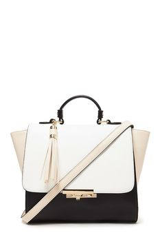 Structured Faux Leather Satchel | Forever 21 - 1000203028 ...
