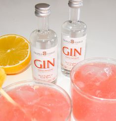 Gin Miniatures by Triple Three Estate Distillery - Citrus Infusion small batch craft gin Gin Miniatures, Craft Gin, Distillery, Wine, Drinks, Bottle, Blog, Crafts, Beverages