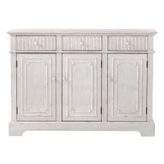 Home Decorators Collection, Manor Rectangular Buffet in Distressed White, 1308100400 at The Home Depot - Mobile