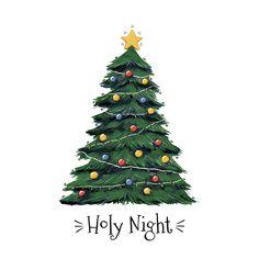 Happy Christmas Day, Christmas Doodles, Christmas Colors, Christmas Art, White Christmas, Vintage Christmas, Christmas Decorations, Cartoon Christmas Tree, Christmas Tree Drawing