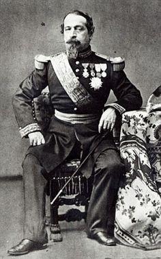 Napoleon III, 1860-70   (b/w photo) Private Collection Bridgemanart.com