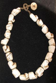 Antique Naga Conch Shell Bead Necklace