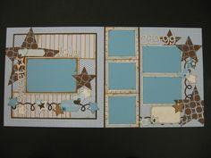 Cricut scrapbook layout
