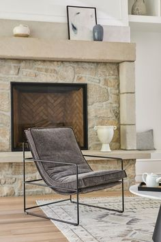 Ahead of the curve. With its thick, comfy cushion carefully nestled in a sturdy steel frame, the Entin Lounge Chair already knows it's your new favorite. #IndustrialDesign #IndustrialStyle #ModernLivingRoom Industrial Style, Industrial Design, Lounge Chairs, Steel Frame, Cushions, Comfy, Grey, Home Decor, Chaise Lounge Chairs