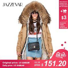 Giacca Donna Invernale Parka Pelliccia pelliccia collo Palloncino 36 38 40 42 S M L cappotto piumino