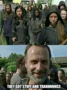 Rick smiles - season 7B - Fangirl - The Walking Dead