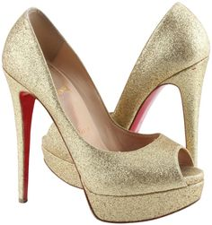 Get the must-have platforms of this season! These Christian Louboutin Gold Glitter Altadama 140 Pumps Platforms Size US 8 Regular (M, B) are a top 10 member favorite on Tradesy. Louboutin Shoes Women, Christian Louboutin Shoes, Gold Pumps, Women's Pumps, Glitter Shoes, Gold Glitter, Red Bottom Heels, High End Shoes, Sander Sides
