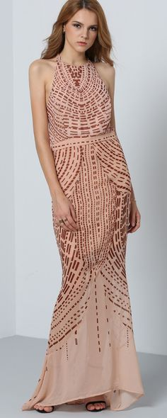 Just when you thought a gown couldn't be more elegant, this Halter Open Back Maxi Dress comes along to change your mind!