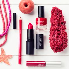 RED! Amazing for lips and nails, it's the color of our passion for #makeup