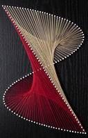 GM105 Nail String Art, String Crafts, Arte Linear, String Art Patterns, Math Art, Thread Art, Paper Embroidery, Art N Craft, Pin Art