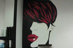 Hair Salon wall art Επαγγελματικές τοιχογραφίες www.wallinart.gr