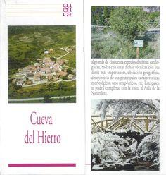 Folleto turístico de Cueva del Hierro, Cuenca, con lugares de interés y mapa de situación. Patronato de Desarrollo Provincial de Cuenca, 2006. #Cuenca #CuevadelHierro #Turismo